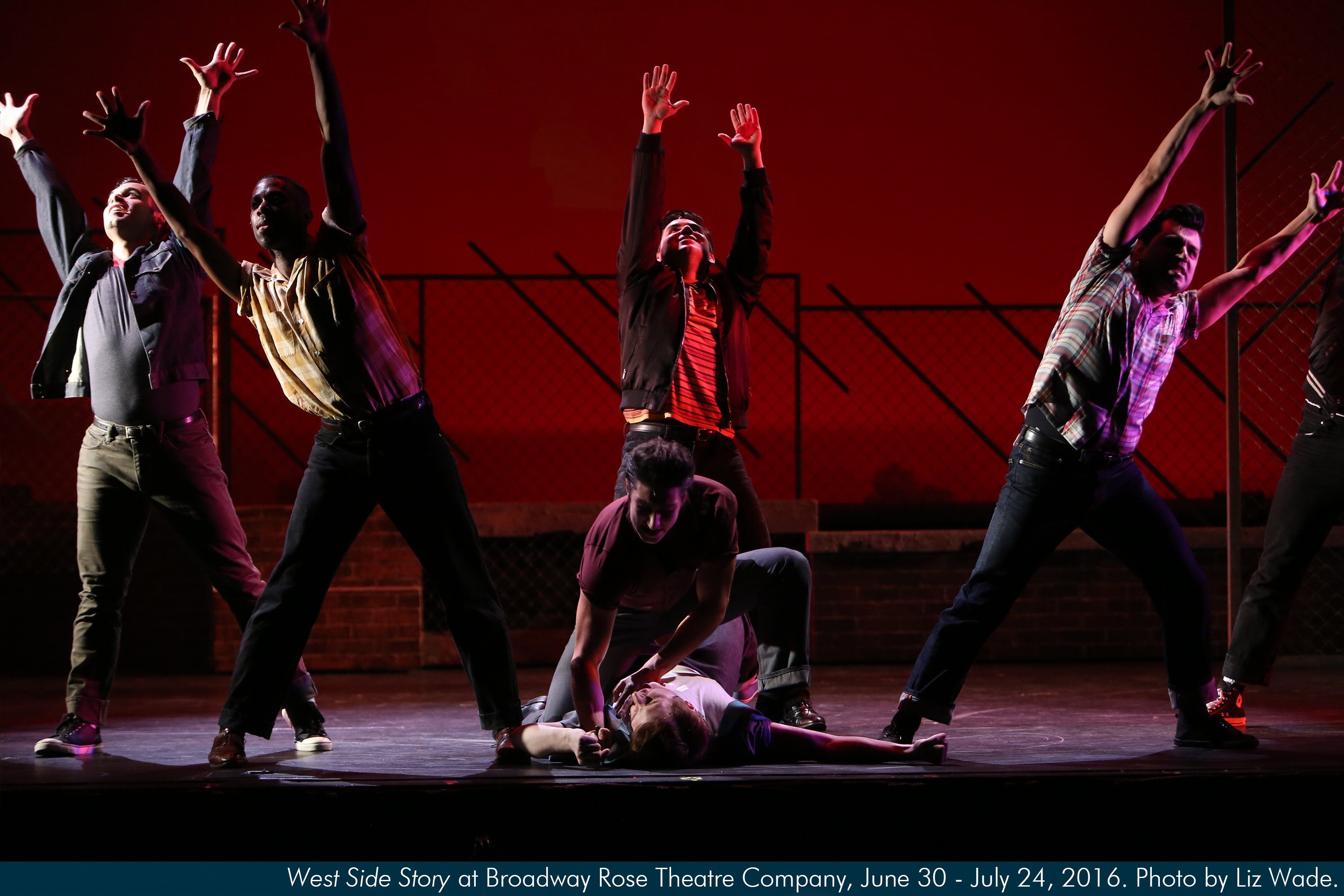 West Side Story at Broadway Rose Theatre Company. Photo by Liz Wade.