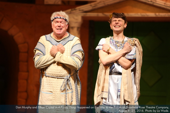 Dan Murphy and Ethan Crystal in A Funny Thing...Forum