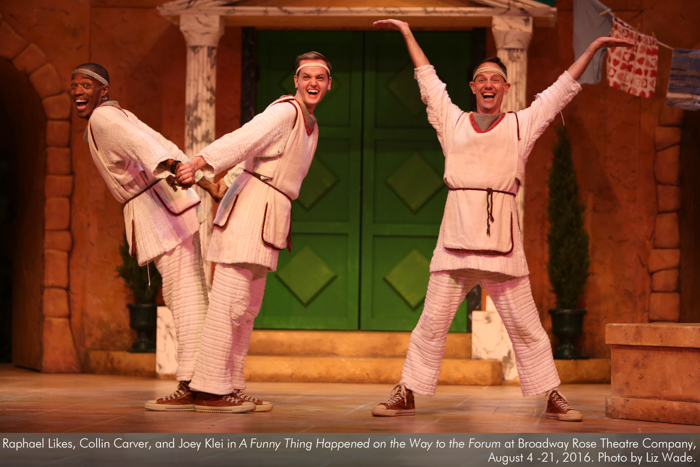 Raphael Likes, Collin Carver, and Joey Klei in A Funny Thing... Forum