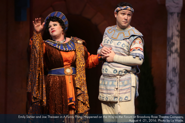 Emily Sahler and Joe Theissen in A Funny Thing... Forum
