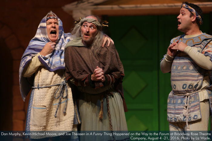 Dan Murphy, Kevin-Michael Moore, and Joe Theissen in A Funny Thing...Forum