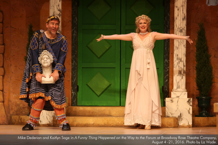 Mike Dederian and Kaitlyn Sage in A Funny Thing... Forum
