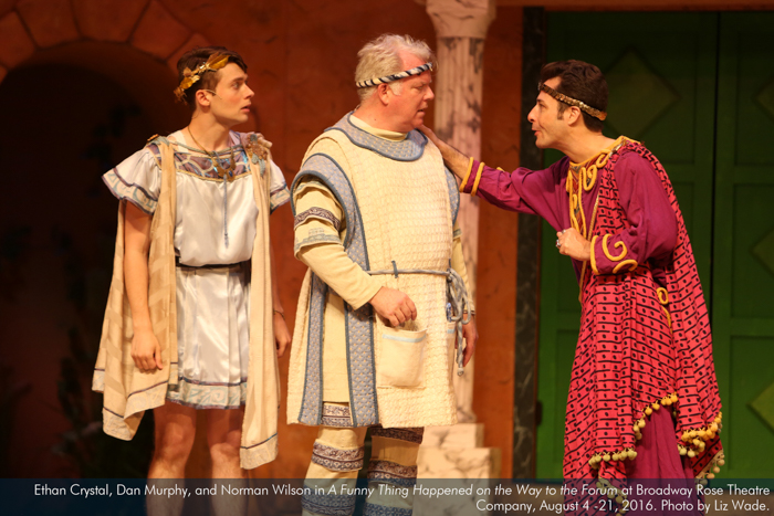 Ethan Crystal, Dan Murphy, and Norman Wilson in A Funny Thing...Forum