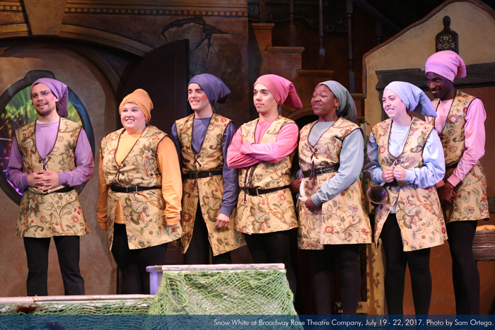 """""""Snow White"""" at Broadway Rose Theatre Company, July 19 - 22, 2017. Photo by Sam Ortega."""